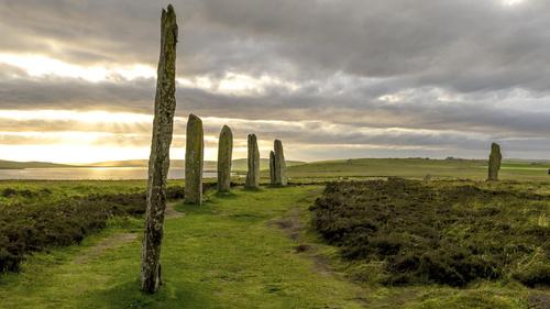 Standing stones in Orkney